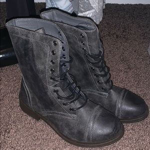 Rustic Black Boots Size 7.5